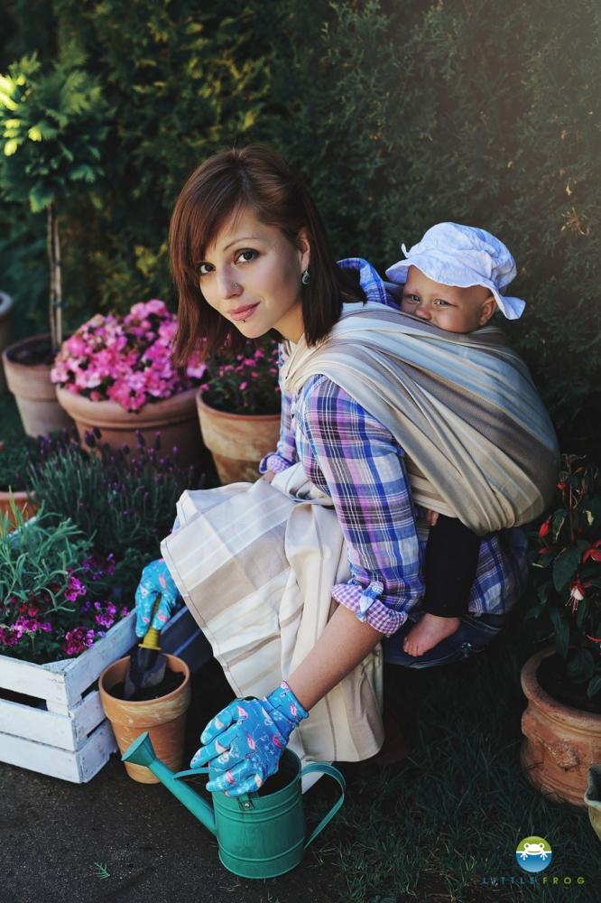 Little FROG Tkaný šátek na nošení dětí - FLINT