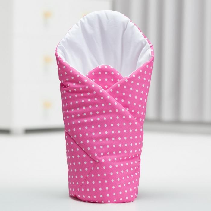 Zavinovačka - růžová/tečky bílé