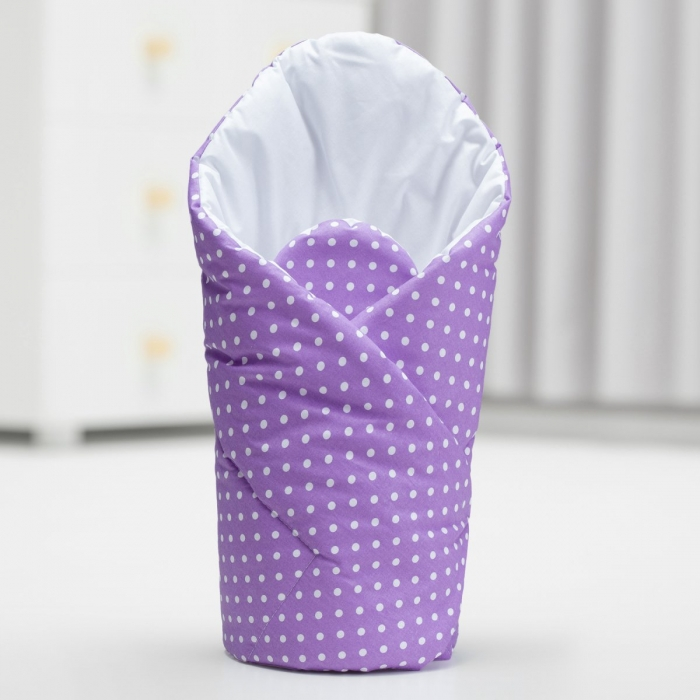 Zavinovačka - fialová/tečky bílé