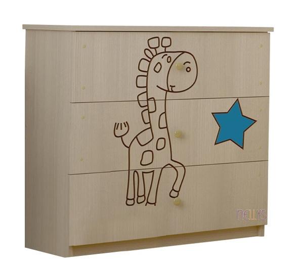 Dětská komoda - Žirafka modrá