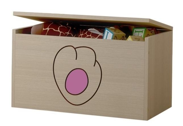 Box na hračky, truhla Kočičí packa - růžová