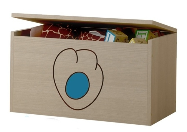Box na hračky, truhla Kočičí packa - modrá
