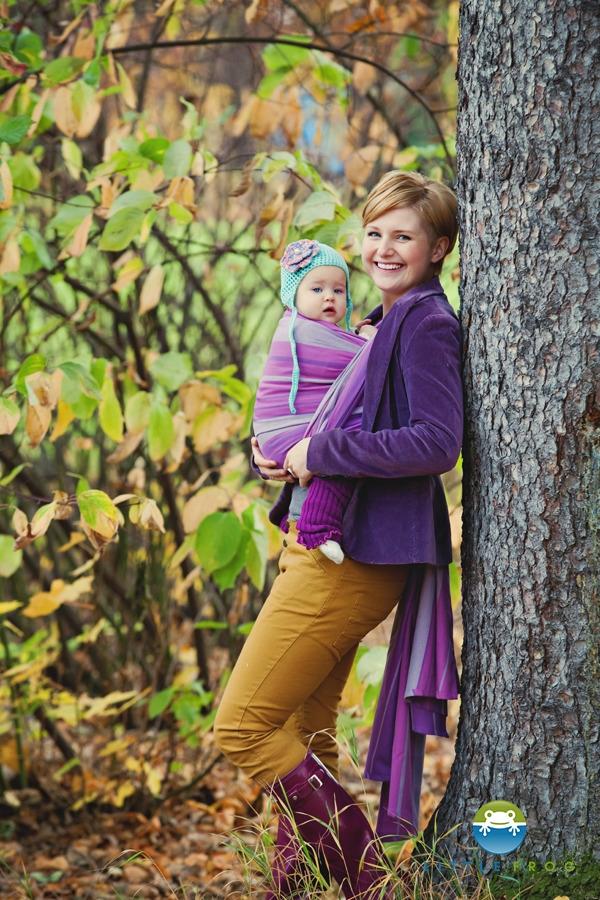 Little FROG Tkaný šátek na nošení dětí - AMETHYST