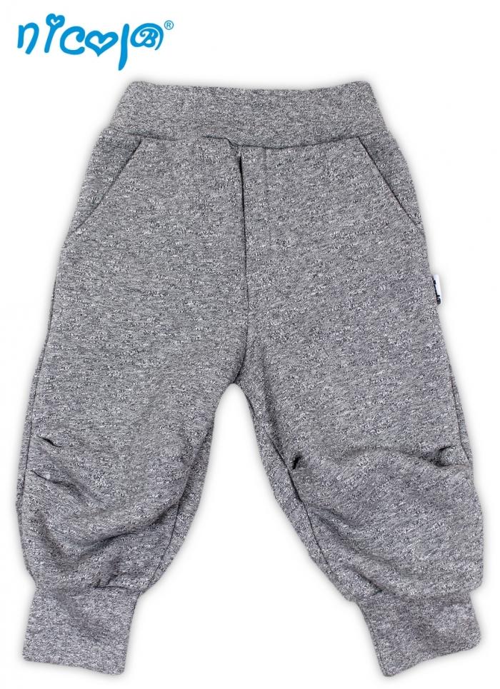 Tepláčky, kalhoty SRDÍČKA - šedá