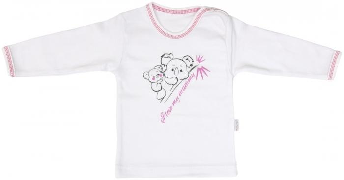 Bavlněné tričko Mamatti KOALA - dlouhý rukáv