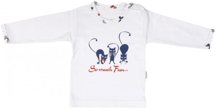 Bavlněné tričko Mamatti Kočička MAŠLIČKA - dlouhý rukáv