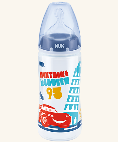 Lahvička NUK First Choice - Disney Cars 300 ml - modrá