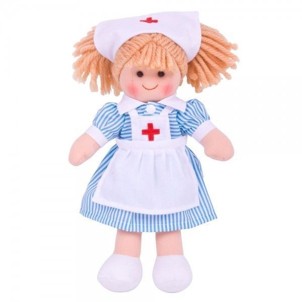 Hadrová panenka zdravotní sestřička, 27cm