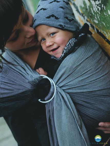 Little FROG tkaný šátek na nošení - OBSIDIAN