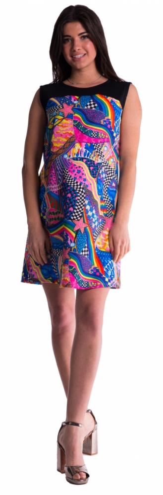 Barevné těhotenské šaty - M