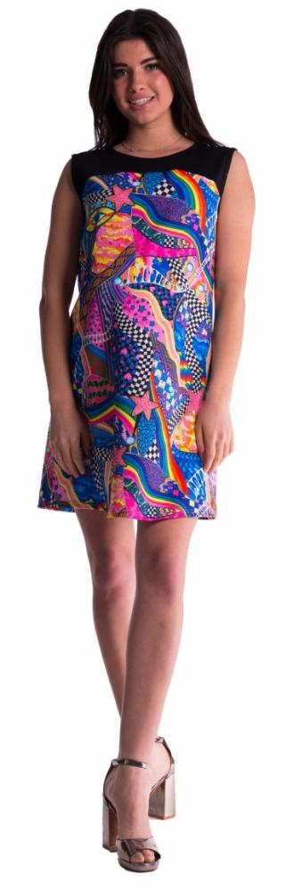 Barevné těhotenské šaty - XXL