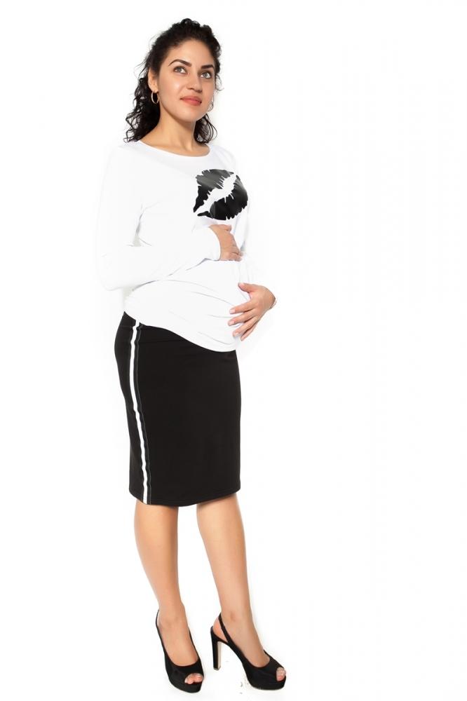Těhotenská sukně ELLY - sportovní - černá - XL