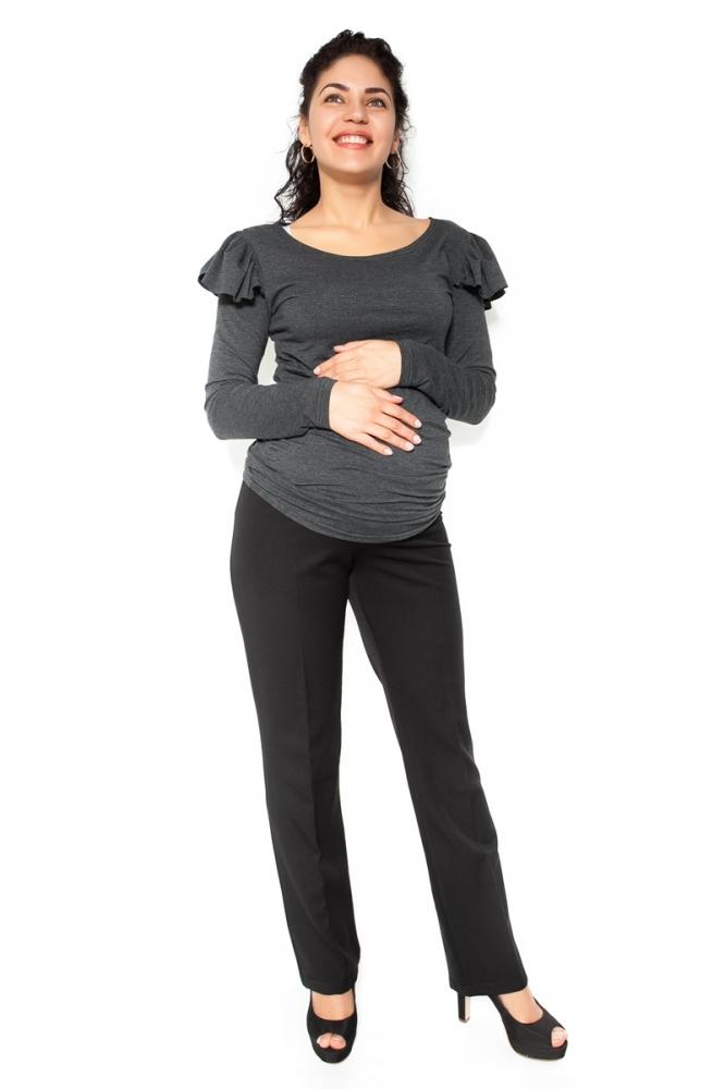 Společenské těhotenské kalhoty BEA - černé - XL
