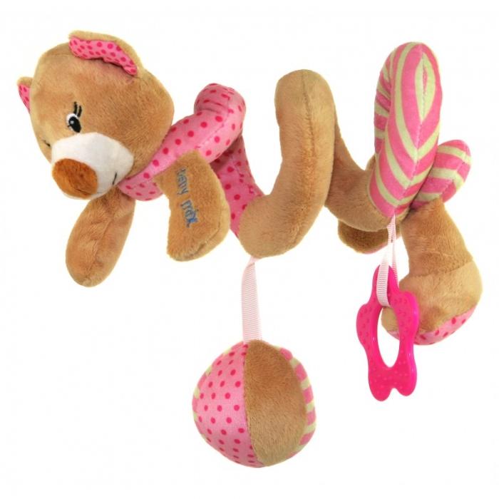Plyšová spirála BABY MIX - Medvídek růžový