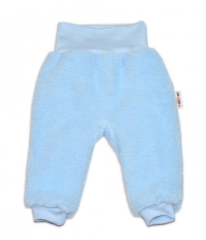 Chlupáčkové kalhoty, tepláčky Baby Nellys ® - modré - vel. 86