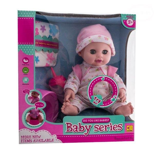 Panenka, miminko čůrající a pijící - růžová