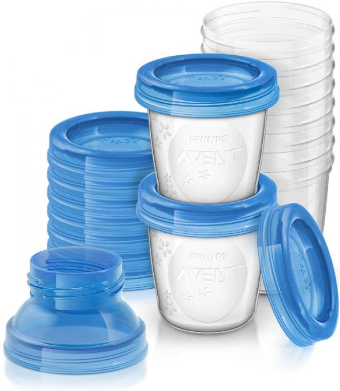 VIA pohárky s víčky Avent - 180 ml - 10 kusů