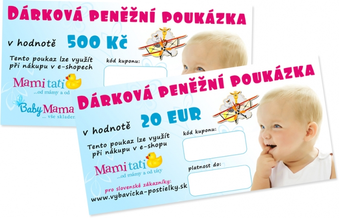 Dárkový poukaz Mamitati.cz v hodnotě 500kč/20eur