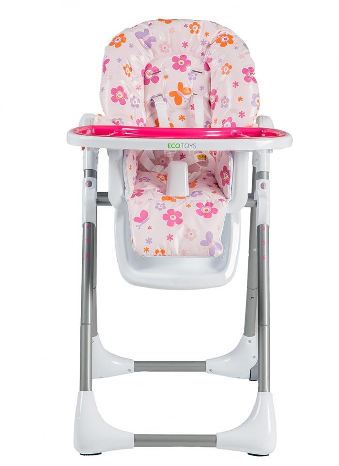 Jídelní židlička, stoleček - růžová