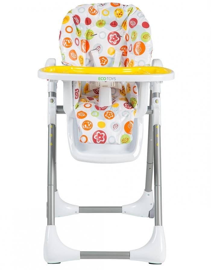 Jídelní židlička, stoleček - žlutá