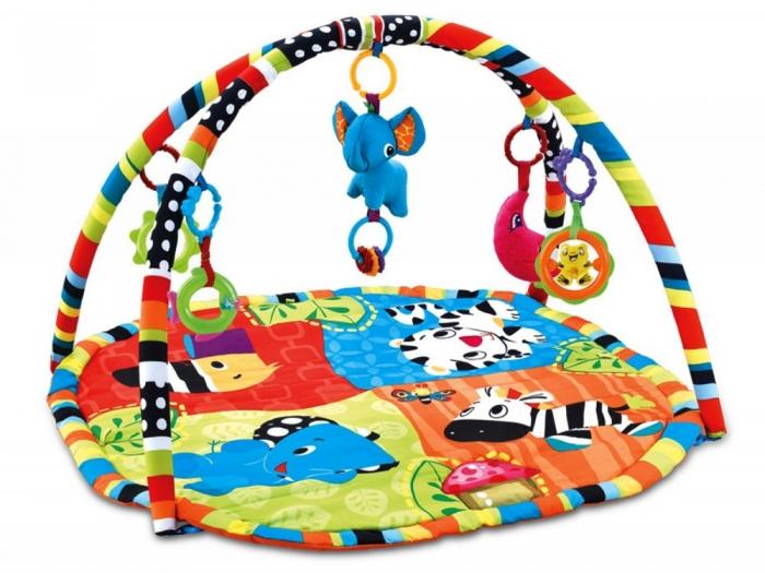 Vzdělávací hrací deka 54x62cm, ECO TOYS - Animals