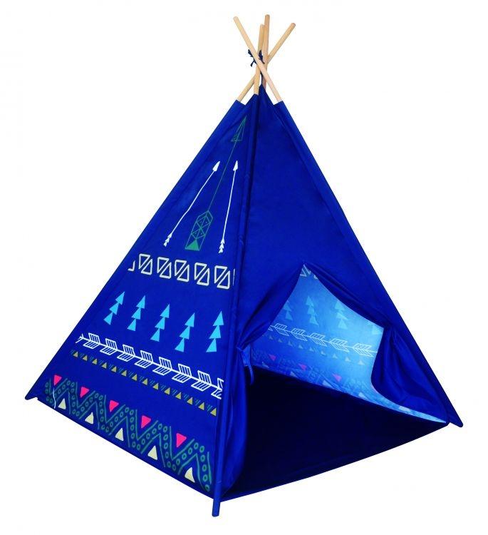 Stan pro děti teepee, týpí - modrý