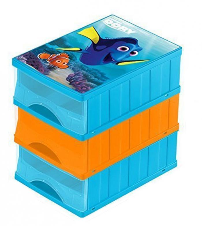 Boxy na hračky - sada 3 šuplíků HLEDÁ SE DORY