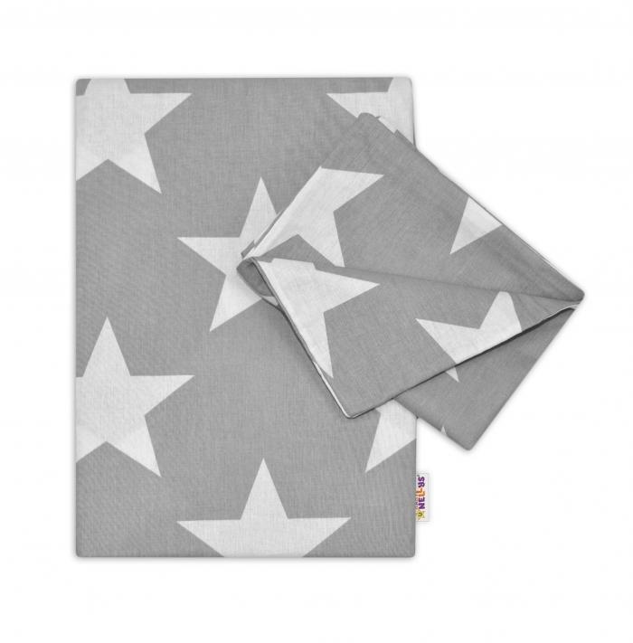 2-dílné bavlněné povlečení - BIG STARS - šedé