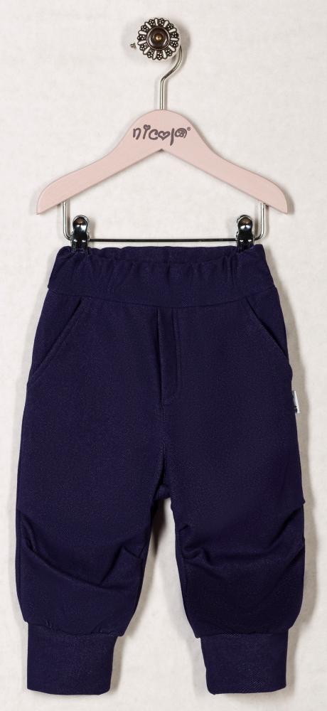Tepláčky, kalhoty VIŠNĚ - granátové, roz. 74