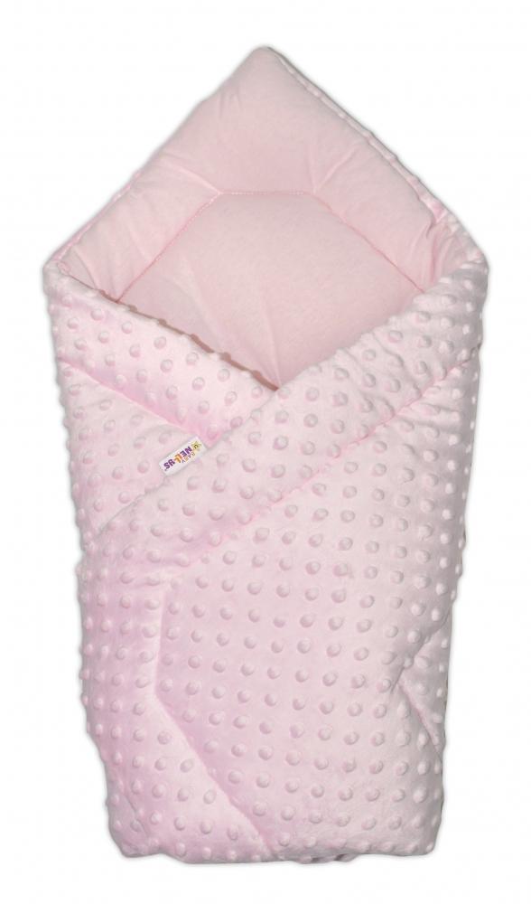 Luxusní zavinovačka 75x75cm, MINKY BABY - růžová