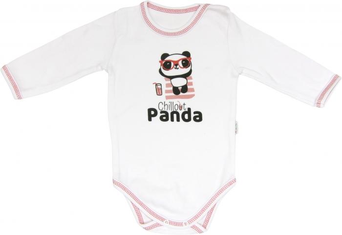 Kojenecké body Panda - dlouhý rukáv, roz. 86