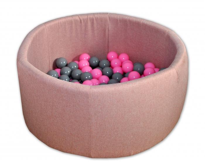 Bazén pro děti 90x40cm + 200 balónků - růžový bazén, balonky dle výběru