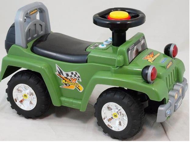 Dětské jezdítko se zvukem - zelené