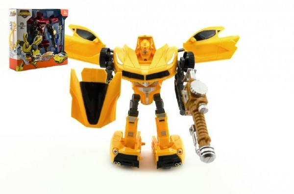 Transformer auto/robot s doplňky plast 25cm asst 2 barvy v krabici