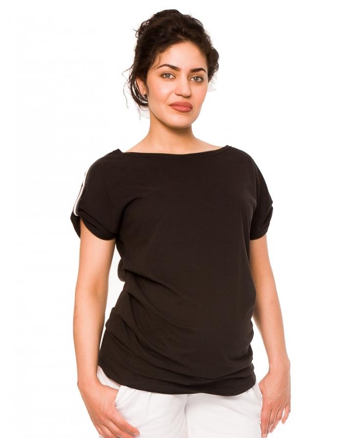 Těhotenské triko Lia - černé, vel. L