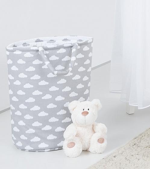 Box na hračky - oboustranný, mráček bílý / mráček šedý