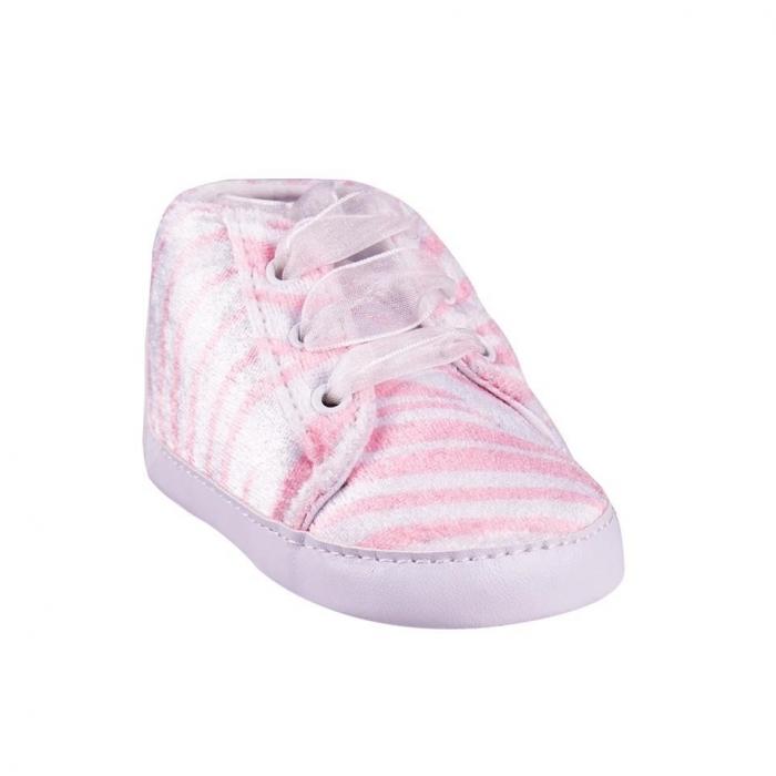 Capáčky, tenisky Zebra - sv. růžové
