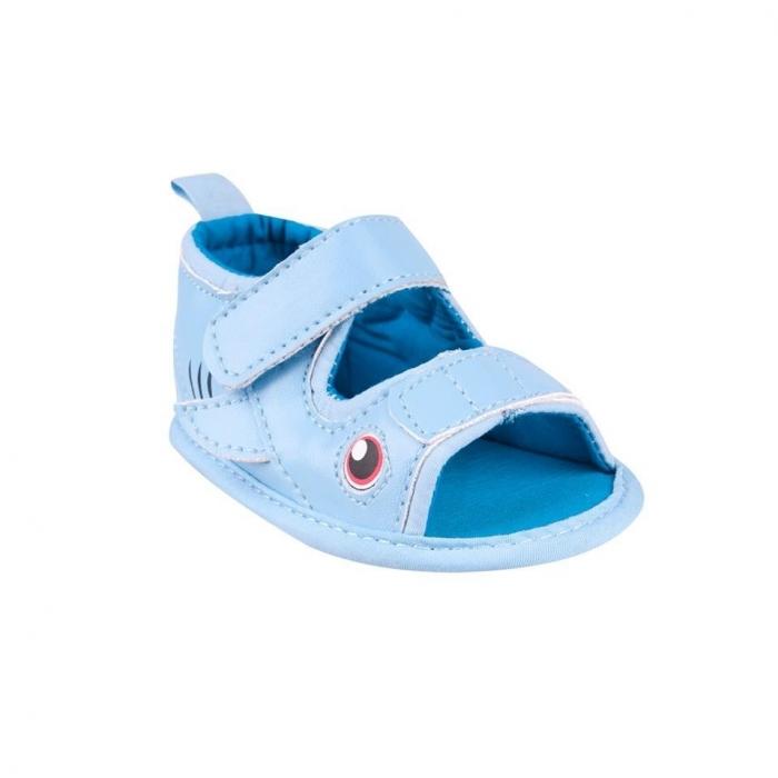 Capáčky, sandálky Fish - sv. modré, 6-12 m