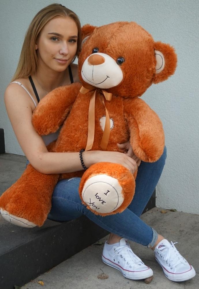 Plyšový medvěd 120cm - hnědý