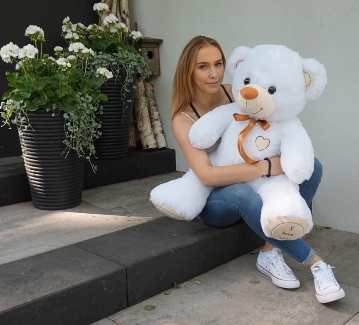 Plyšový medvěd 120cm - bílý