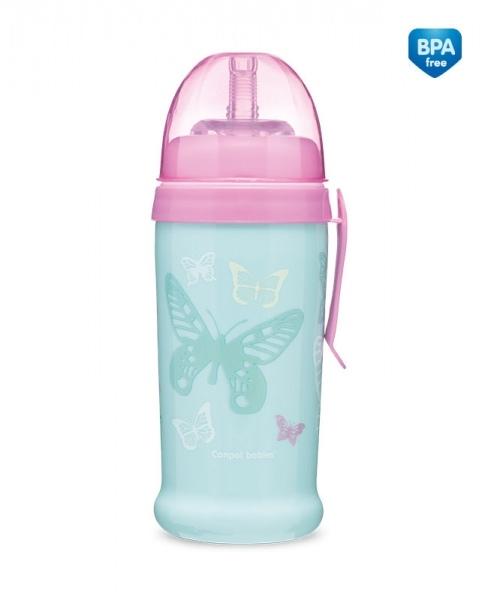 Sportovní nekapající láhev Butterfly - mátová