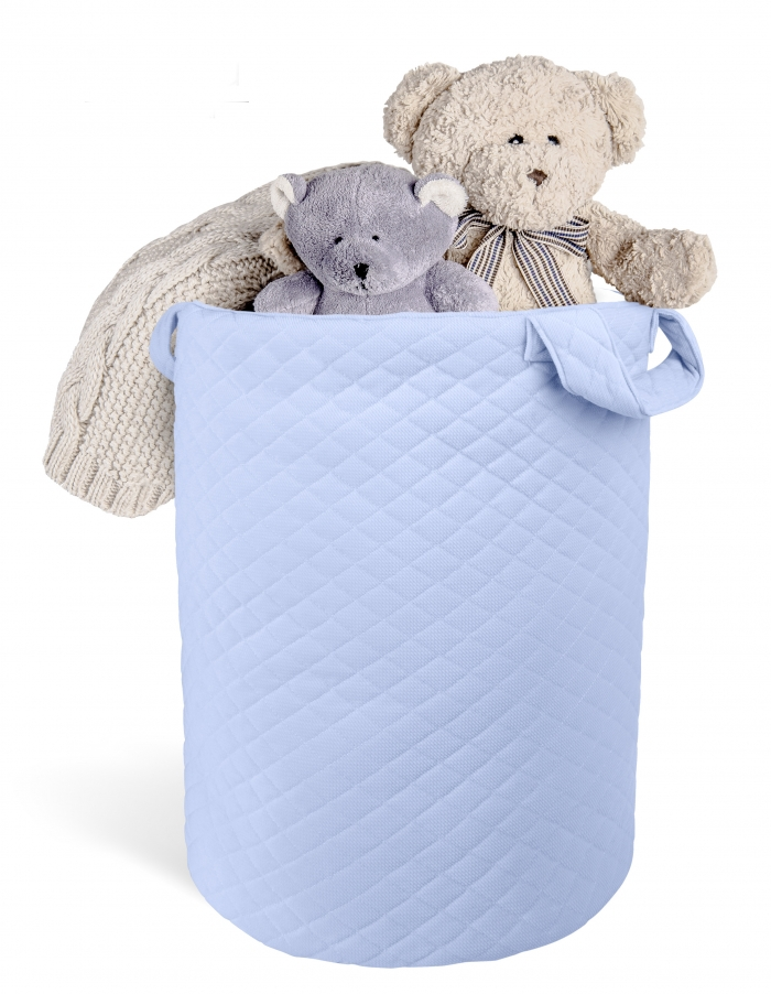 Box na hračky Velvet lux Miminu, prošívaný - modrý