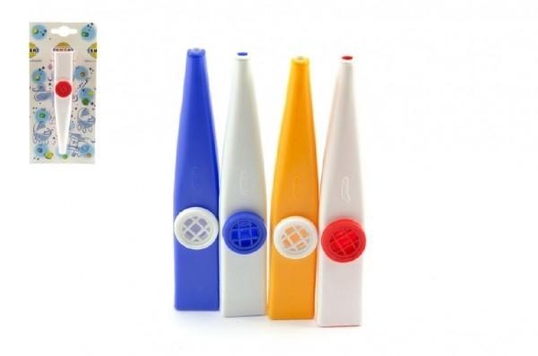 Kazoo plast 12cm asst 4 barvy na kartě