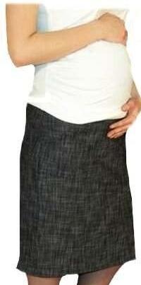 Těhotenská sportovní sukně s kapsami melírovaná - černá 4941af4243