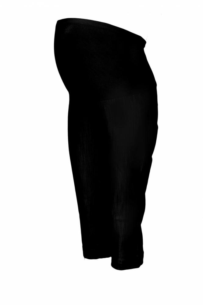 Těhotenské 3/4 kalhoty s elastickým pásem - černé, vel. XXXL