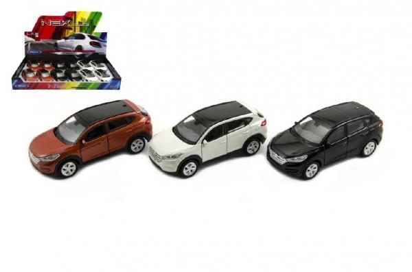 Auto Welly Hyundai Tucson kov 11cm asst 3 barvy volný chod 12ks v boxu