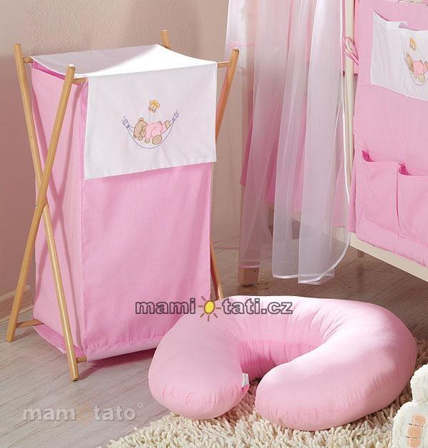 Luxusní praktický koš na prádlo - HOUPAČKA růžová