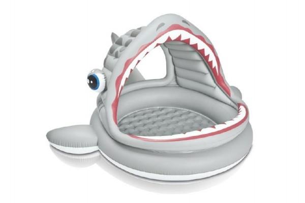 Bazén dětský žralok se stříškou nafukovací 201x198x109cm 2+