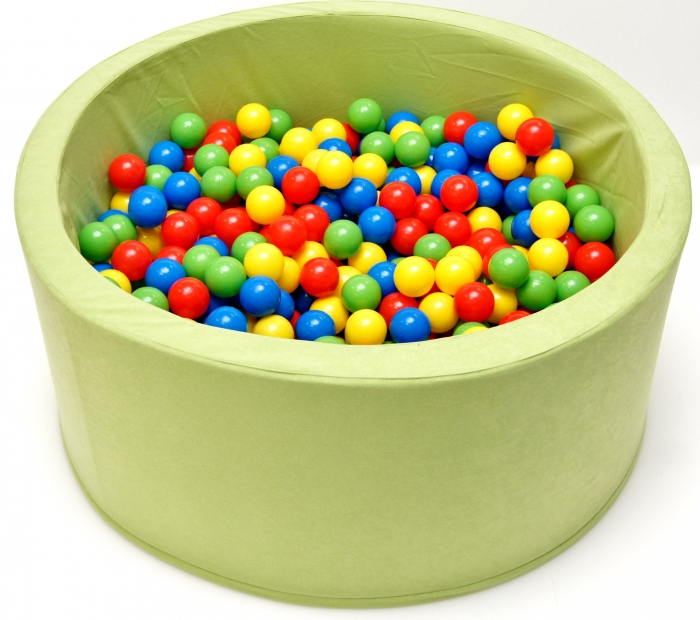 Bazén, bazének pro děti 90x40cm kruhový tvar + 200 balónků - pistacie