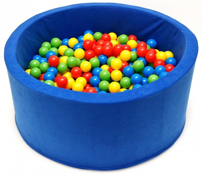 Bazén pro děti 90x40cm kruhový tvar + 200 balónků - modrý